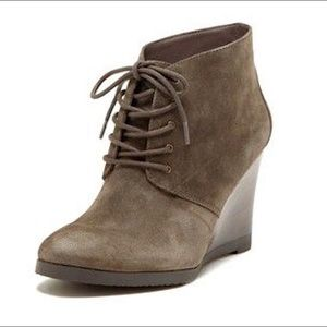 FRANCO SARTO | Weston Suede Wedge Ankle Booties